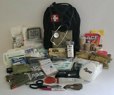 Emergency Medical Pack - Fully Stocked!  First Aid & Trauma - Tq - Quick Clot