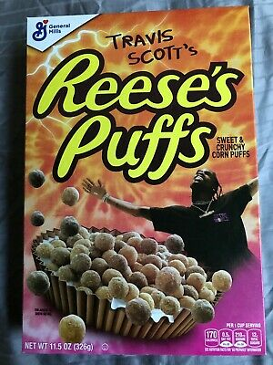 Travis Scott X Reeses Puffs Cereal Cactus Jack Sold Out Limited New