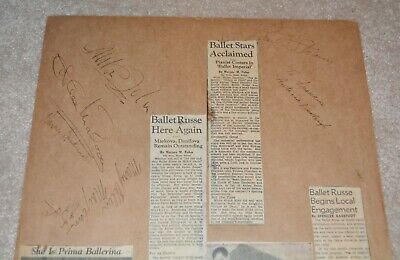1940's SIGNED BALLETS RUSSES DE MONTE CARLO by 26 Members autographs Markova!!!!