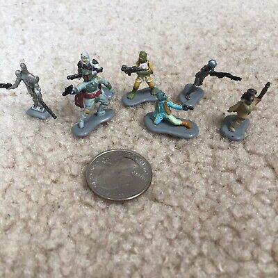 M24 MICRO MACHINES LOOSE LOT Galoob STAR WARS figures BOUNTY HUNTERS incomplete