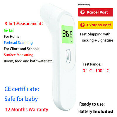 Baby & Adults 3 in 1 Ear&Forehead Room Nursery Infrared Digital Thermometer 0.5s