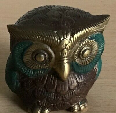 Vintage Wrought Iron Owl Paper Weight / Weight 550 Grams Very Good Condition