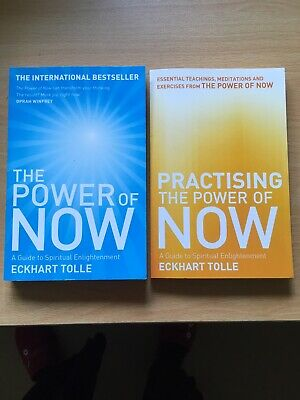 The Power of Now AND Practicing the power of Now Eckhart Tolle 2 Paperbacks