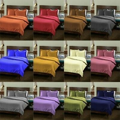 40 CM DEEP WALL 1000TC 100%COTTON 6PC Fitted,Flat Set Pillow AU~SG,DB,QUEEN,KING