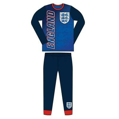 Boys Hooded England Logo All In One Pyjamas Pjs White Football Ages 9-14 Years