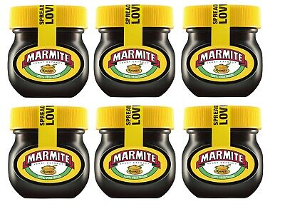 6 x Small Jars Of Marmite Yeast Extract Spread 6 Jar 70G