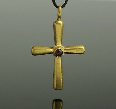 SUPERB ANCIENT ROMAN GOLD & GARNET CROSS CIRCA - 2nd/4th Century AD   0121