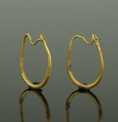 BEAUTIFUL ANCIENT ROMAN GOLD EARRINGS - CIRCA - 2nd Century AD  (087)