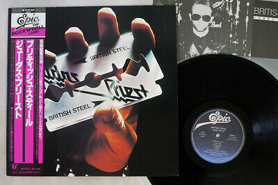 JUDAS PRIEST BRITISH STEEL EPIC 25 3P-208 Japan OBI VINYL LP
