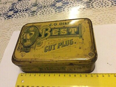 Old Vintage J.g. Dills Best Tobacco Tin