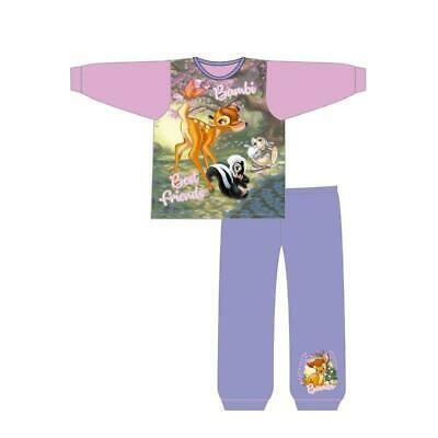 Girls Disney Bambi Pyjamas Thumper Flower Deer Toddlers  18 months to 5 years