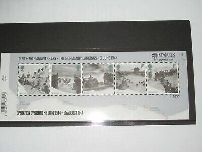 2019 Miniature Sheet MS - The Normandy Landings Stampex Limited Edition Sheet