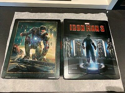 Iron Man 3 Bluray Steelbook Marvel Lenticulaire exclusif Zavvi