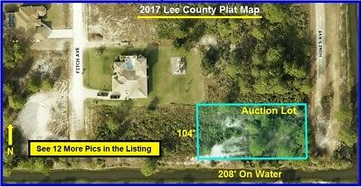 208' On Water FLORIDA Lot Land Lehigh Acres Cape Coral Fort Myers Port Charlotte