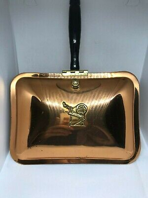 Vintage Copper Craft Guild  Table Crumb Tray Silent Butler Crumb Catcher Sweeper