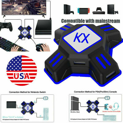 USB Adapter Converter For Xbox One PS4 NS Controller To Mouse Keyboard FPS