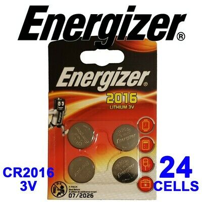 24 X Energizer CR2016 3V Lithium Coin Cell Batteries 07/26 EXPIRY CR 2016