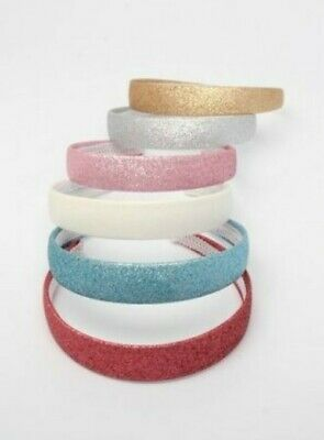 Ladies Girls Childrens Glitter 2.5cm Wide Hair Band Alice Band Hair Accessory