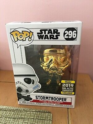 Funko POP! Star Wars: Stormtrooper Gold Chrome - 2019 Galactic Convention 296