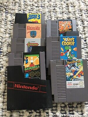 nintendo entertainment system nes games bundle *not tested*