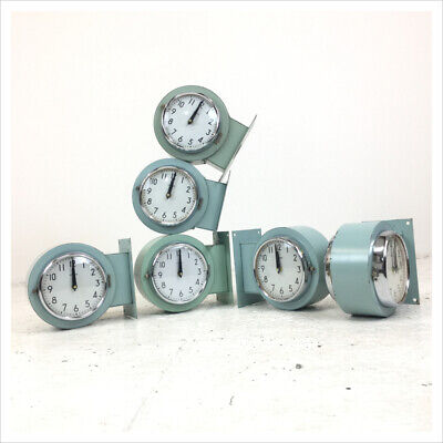 Industrial Vintage Double Sided Super Tanker Wall Ships Clock