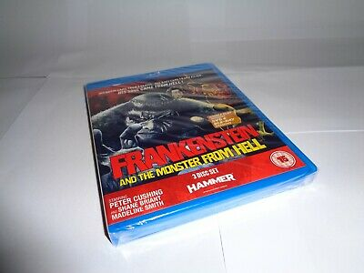 FRANKENSTEIN AND THE MONSTER FROM HELL 3 DISC blu-ray UK RELEASE NEW SEALED RARE