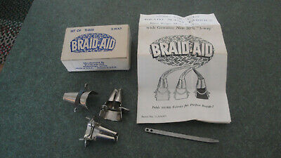 Set of 3 Braid Aids 3 way Plus lacing needle tool & instruction pamphlet  & box
