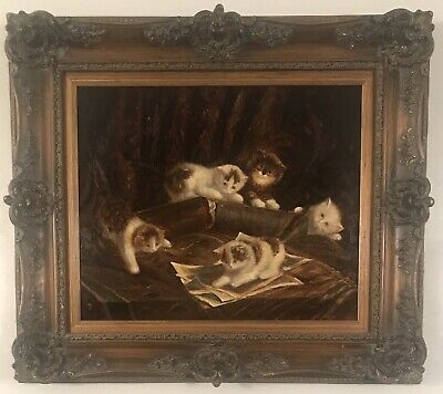 Image result for 5 kittens painting