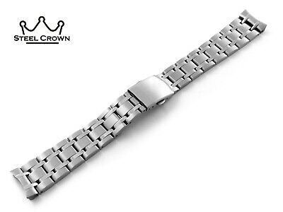 19mm For Omega Watch Stainless Steel Bracelet Strap Band Silver Seamaster