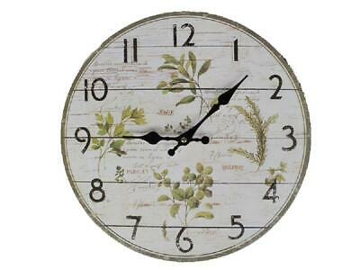 G60: Wall Clock Herbs of the Provonce, Kitchen Watch Herbs, Country House