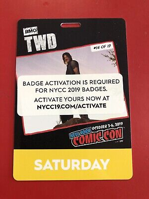 New York Comic Con Saturday Pass NYCC 2019 Javits NYC Badge Ticket SOLD OUT LOOK