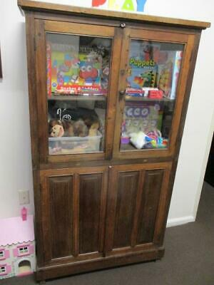 Antique Filipino Rustic Display Cabinet Glass Doors Cupboard Space 70+ Years Old
