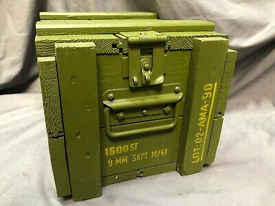 Military wooden ammo crate, strong & sturdy, NO RESERVE, used