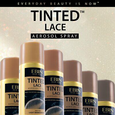 Ebin Tinted Lace Aerosol Spray for Lace Wigs Natural Skin Tone Color *1 Shade