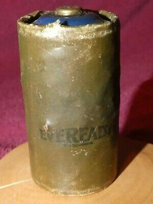 Antique U.S. Army Signal Corps EVEREADY D Size BA-30 Battery Mfd April 1944 WW2