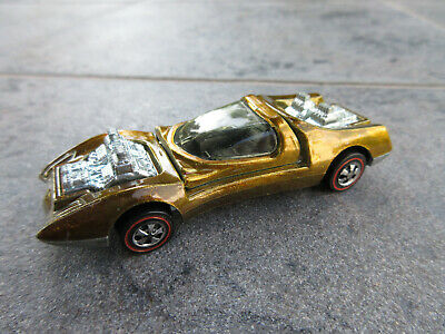VINTAGE HOT WHEELS Redline 1969 MOD QUAD GOLDEN BROWN Mattel USA BASE NICE!!