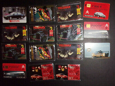 Lot of 15 vintage car phone cards Toyota Telecarte Saturn  Telemax ID#2067