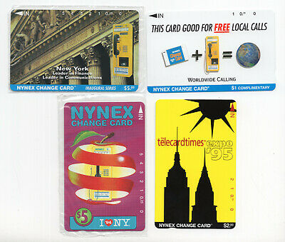 4 NYNEX change card vintage phone cards Expo 95 I Love NY telephone sealed #2091
