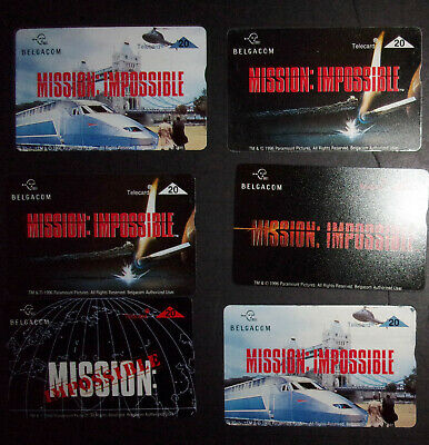6 Mission Impossible phone cards Belgacom prepaid calling cards ID#2068