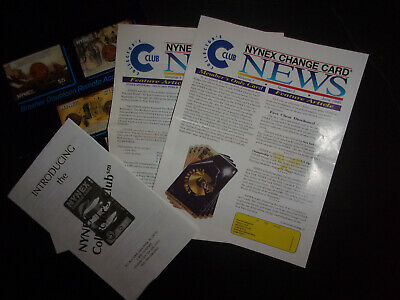 4 NYNEX change card phone card Newsletters membership & order forms 1995 ID#2096