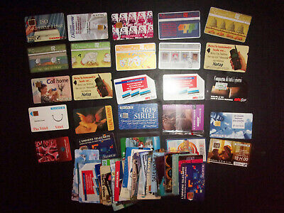 Lot of 100 vintage phone cards Telecarte Telecom  BellSouth SIP Taxcard ID#2059