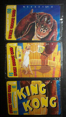 Set of 3 NYNEX King Kong vintage puzzle phone cards prepaid sealed ID#2084
