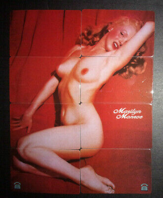Set of 8 Marilyn Monroe nude puzzle vintage phone cards prepaid 1997 ID#2082