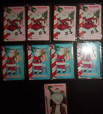 9 vintage Kris Kringle Santa Claus phone cards prepaid calling cards $5 ID#2080