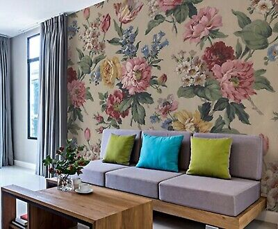2 Rolls Wall Rogues Uk Wr50510 Large Scale Botanical Mural