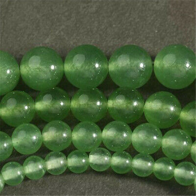 6-10mm Round Green Chalcedony Loose Beads Diy Accessories Craft Accessories