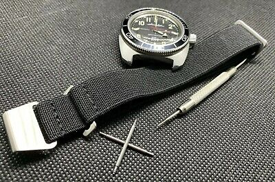 NATO MARINE NATIONALE MILITARY Watch STRAP BLACK 20mm + SPRING BAR TOOL/4 PINS