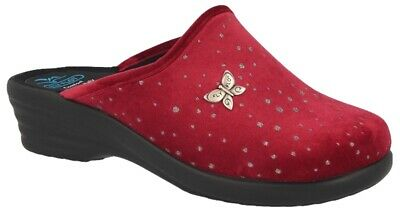 Fly Flot L8P44 Cd Bordo Ciabatte Donna Made In Italy Anatomiche Antishock Antisc