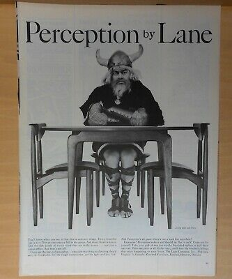 1959 two page magazine ad for Lane Scandinavian Furniture - Perception, Viking