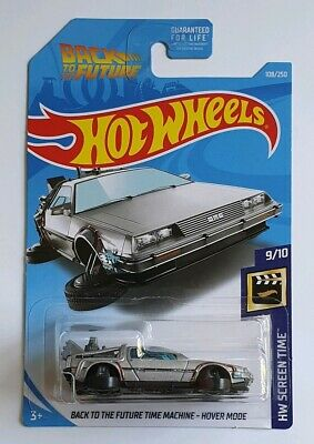 Hot Wheels Back To The Future Time Machine Hover Mode Long Card